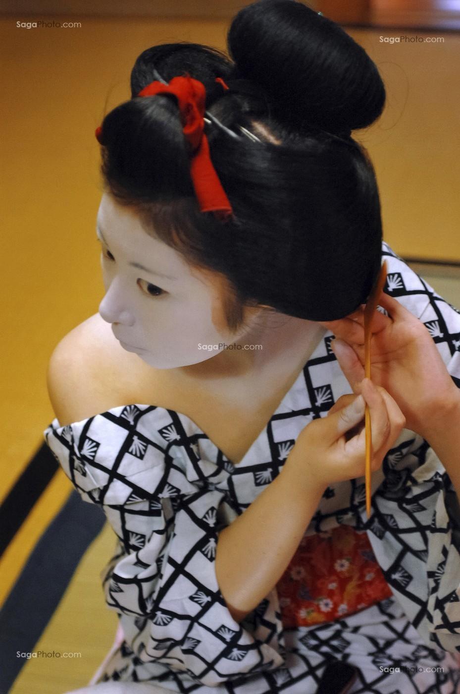 Photo De Coiffure Traditionnelle D Une Geisha Kyoto Japon