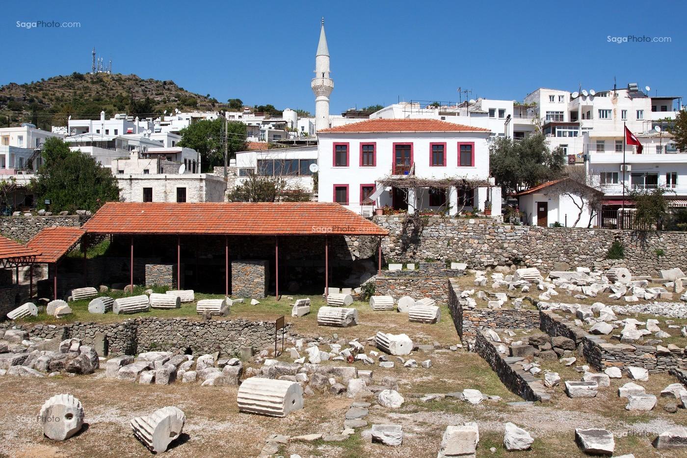 0430 >> photo de VESTIGES DU MAUSOLEE D'HALICARNASSE, BODRUM, TURQUIE
