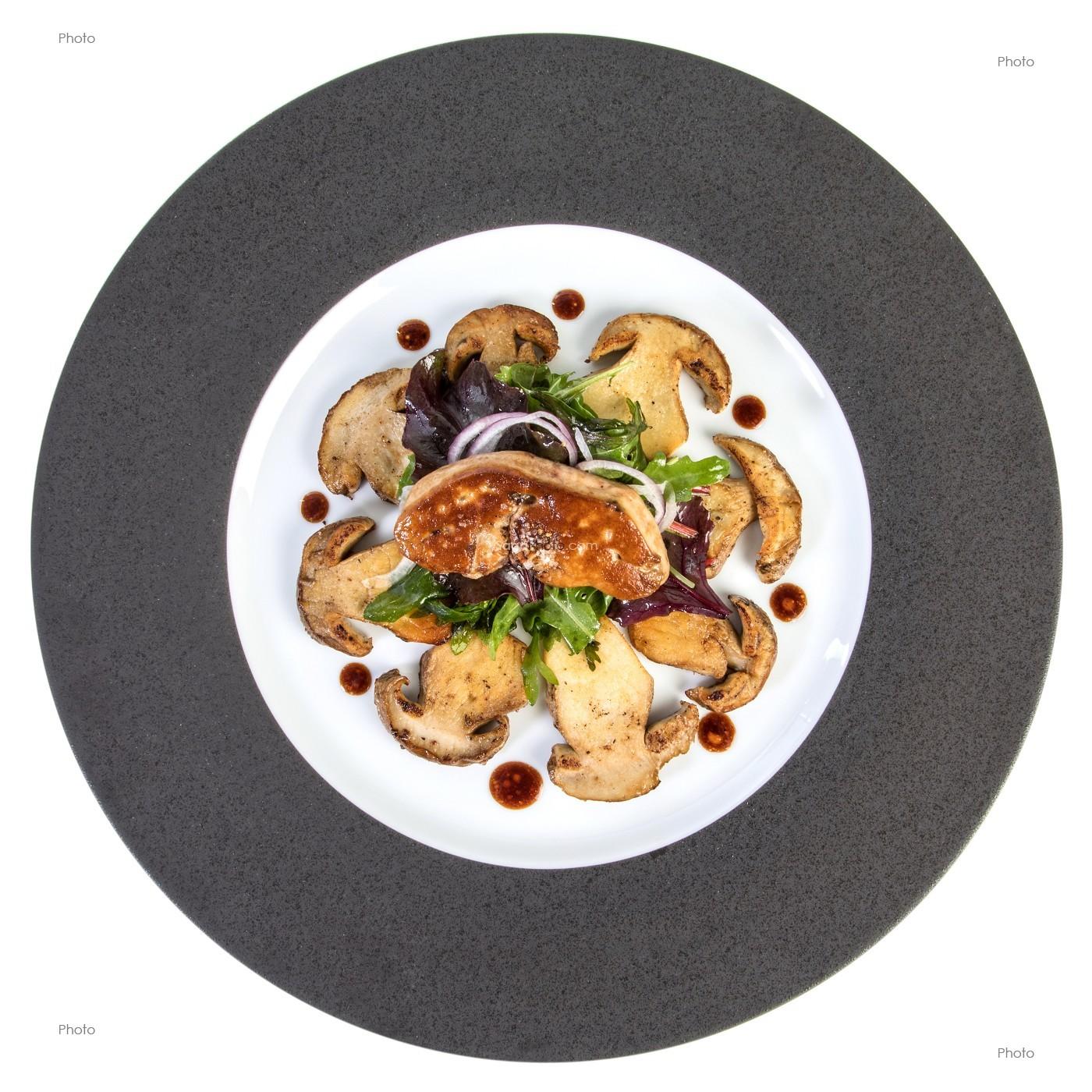 Photo De Salade De Cepes Et Foie Gras Recette Du Chef Etoile