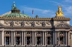 OPERA DE PARIS, OPERA GARNIER, PLACE DE L'OPERA, PARIS, 9 EME ARRONDISSEMENT, FRANCE, EUROPE