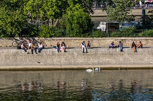 QUAIS DE SEINE, DECONFINEMENT, (75) PARIS, ILE DE FRANCE, FRANCE